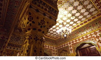 Gaudy and Heavily Designed Ceiling - Handheld, twisting,...