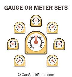 Gauge meter icon - Gauge meter vector icons sets design on ...