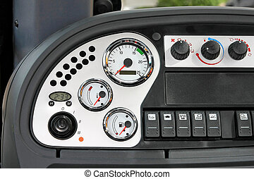 Gauges - Close up shot of gauges and buttons