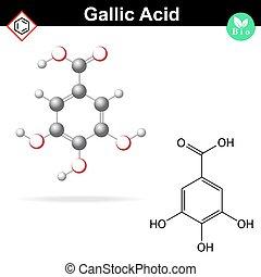 Gaulois, acide,  molécule