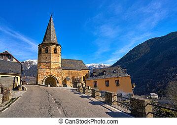 gausac, 教会, 村, 近くに, viella, vielha
