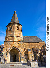 Gausac church village near Viella Vielha