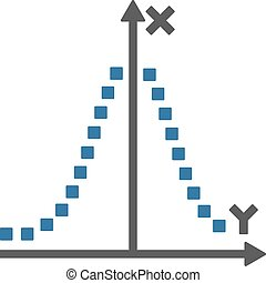Gauss Plot Vector Toolbar Icon