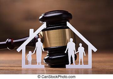 Gavel And Paper Family Representing Divorce