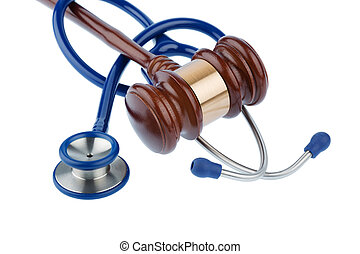 gavel and stethoscope, symbol photo for bungling doctors and...