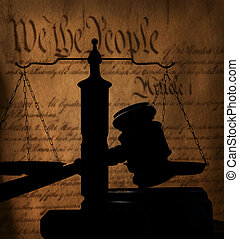 Gavel and US Constitution
