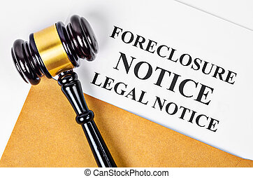 gavel, aviso, foreclosure, document.