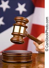 gavel, bandeira americana
