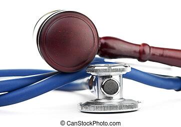 gavel, bruine , medisch, stethoscope