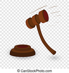Gavel cartoon illustration