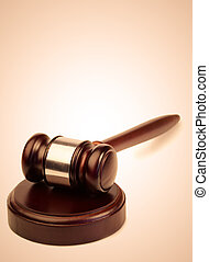 Gavel on a white background