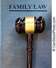 gavel, corte lei, família