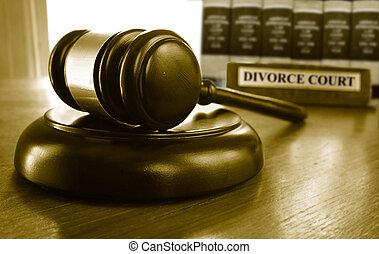 gavel, divórcio, corte