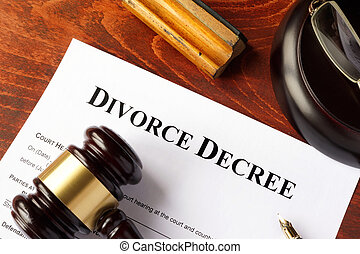 gavel, divórcio, decreto