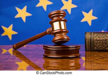 gavel, e, bandeira européia união