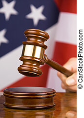 gavel, en, amerikaanse vlag