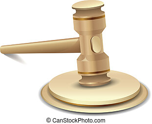 gavel - Vector illustration of gavel