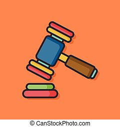 gavel hammer vector icon