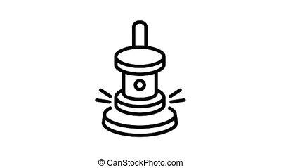 Gavel icon animation best object on white background