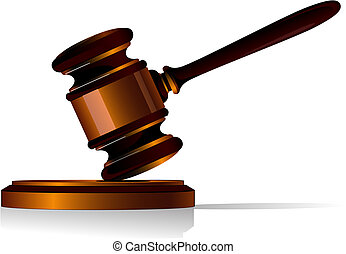 Gavel icon - Gavel symbol as a concept of law or auction