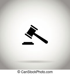 Gavel icon Judge hammer symbol auction  icon