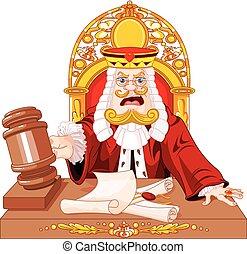 gavel, król, sędzia, serca