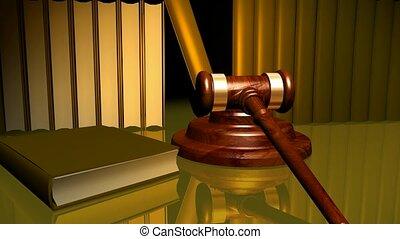 gavel, książki prawa