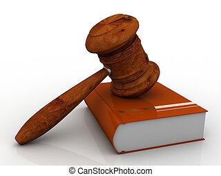 gavel, livro, lei