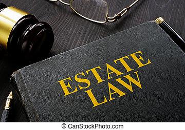gavel, livro, tabela., propriedade, lei