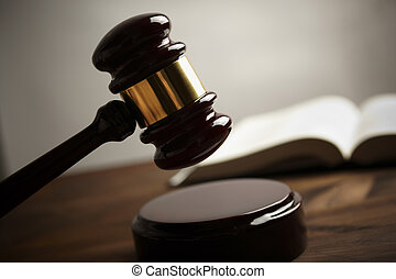 gavel - low concept, selective focus on metal part, special...