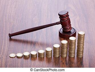 gavel madeira, moedas