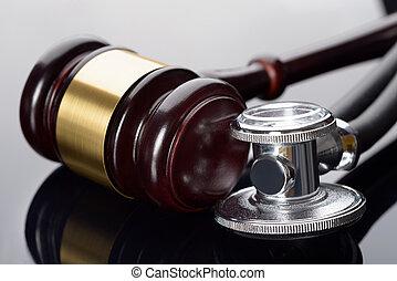 gavel, medyczny, stetoskop
