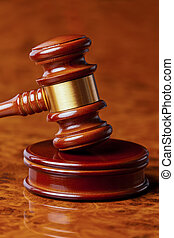 gavel of a judge in court