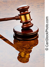 gavel of judge - the judge hammer a judge in court. located...