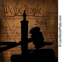 gavel, og, amerikansk. forfatning