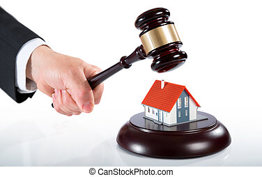 gavel on house - auction