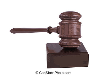 gavel on white background - image of a judges gavel isolated...