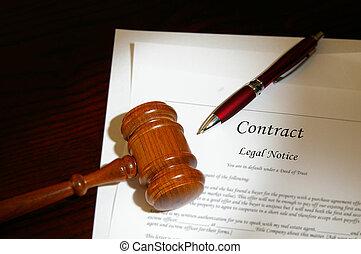 gavel, prawny kontrakt