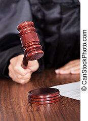 gavel, rechter, rechtszaal, frappant