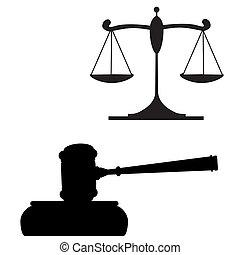 gavel, sprawiedliwość, skalpy