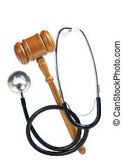 gavel, stethoscope