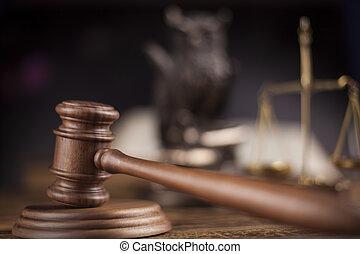 gavel, tema, malho, de, juiz