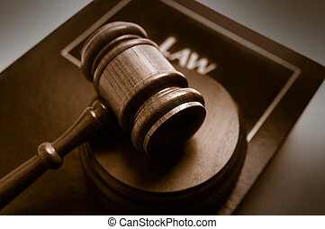 gavel, topo, livro, corte, lei