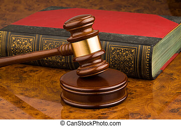 Gavel - Wooden gavel - symbol for jurisdiction
