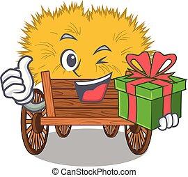 gaveta, hayride, brinquedo, caricatura, presente