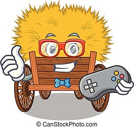 gaveta, hayride, brinquedo, gamer, caricatura