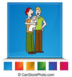 Gay Adoption Button Set