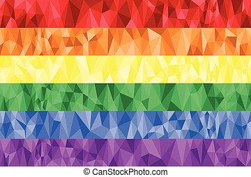 Gay and Lesbian rainbow flag poly - Gay and Lesbian rainbow...