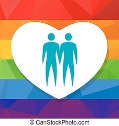 gay couple and heart