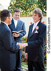 Gay Couple Married at Last - Emotional wedding ceremony of...